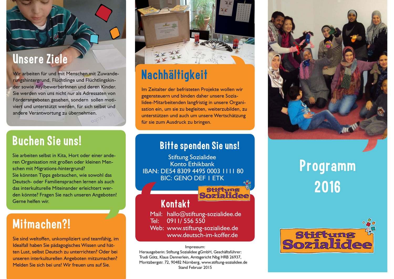 Broschüre Programm Stiftung Sozialidee