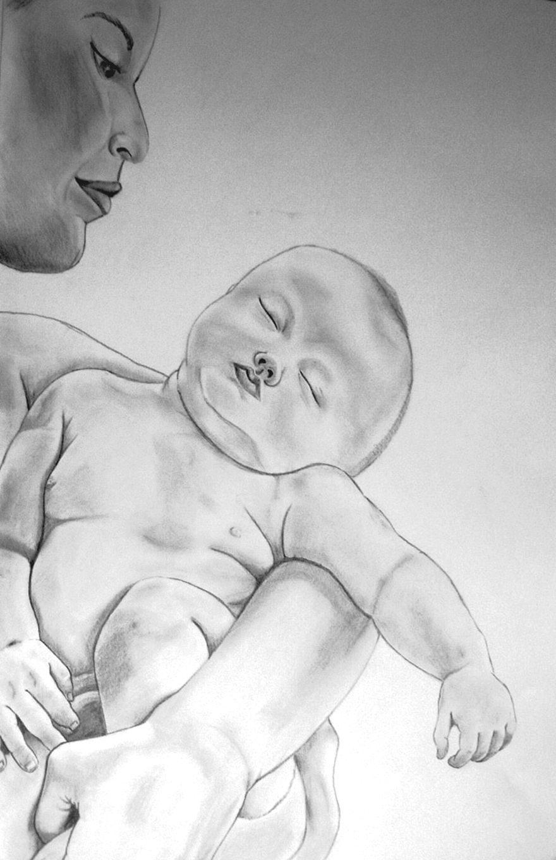 Bebé Stifzeichnung