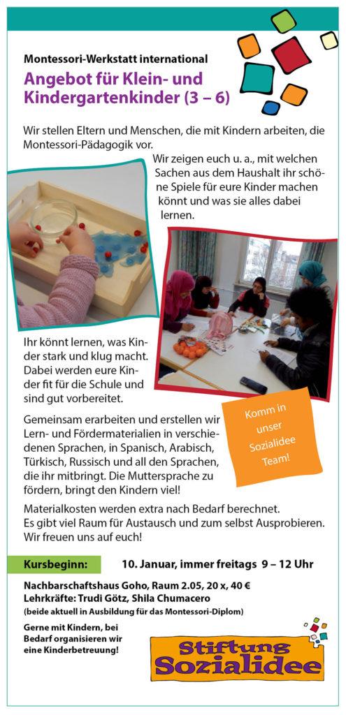 Flyer Montessori Werkstatt