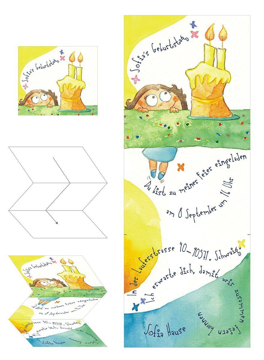 Design für eine Geburtstagskarte Aquarell