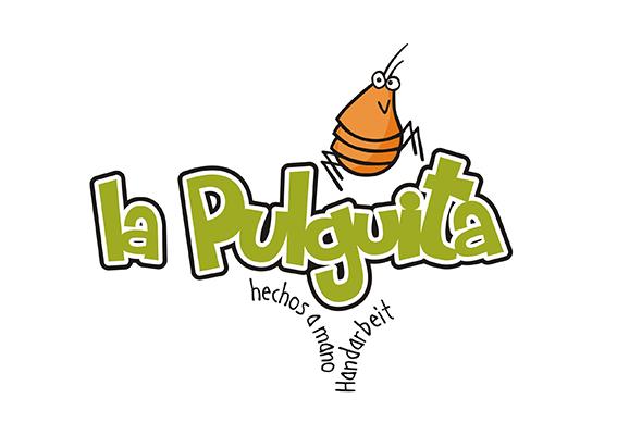 Logo Design La Pulguita Bricolaje hechos a mano. (der kleine Floh) Handarbeitsprodukte