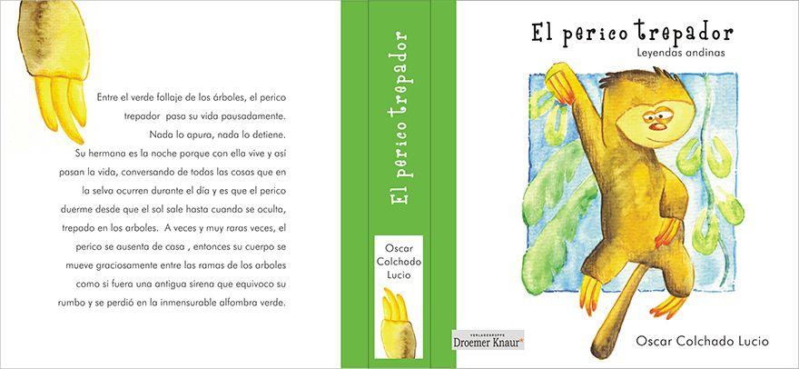 """Buchumschlag: """"El perico trepador"""" (das kletternde Faultier)"""