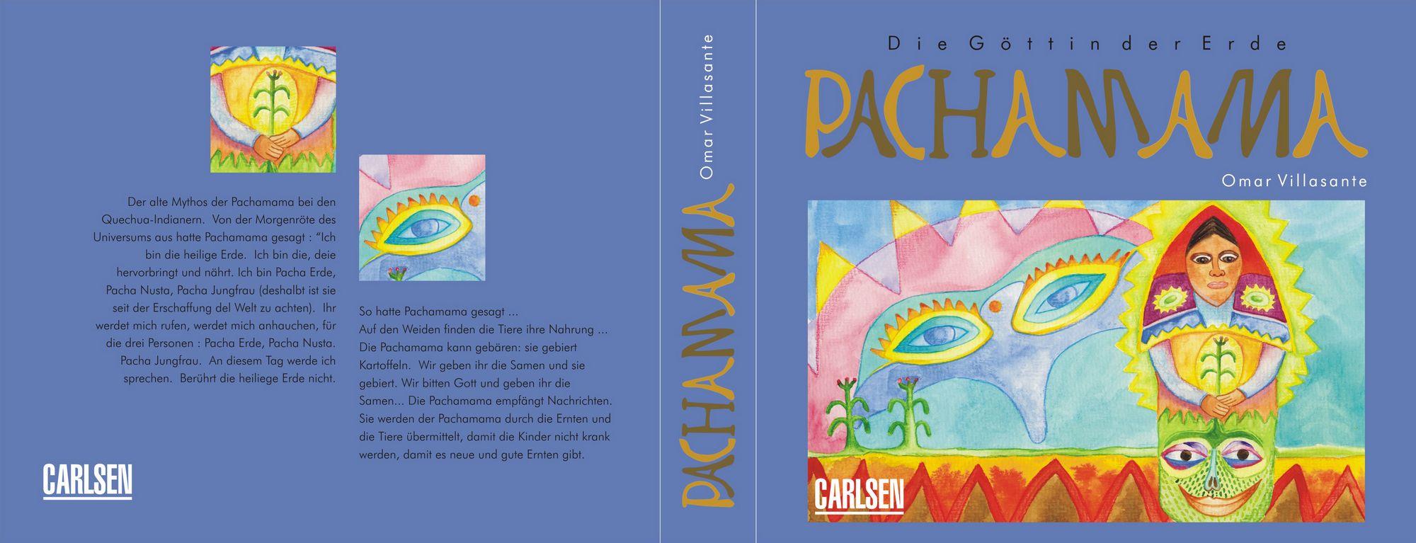 """Buchumschlag: Die Göttin der Erde """"Pachamama"""" (La diosa tierra """"Pachamama"""")"""