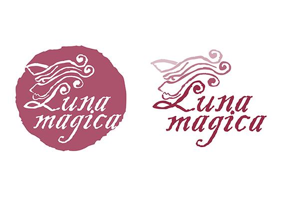 Logo Design Luna mágica Tienda de productos místicos. Mystische Produkte Shop