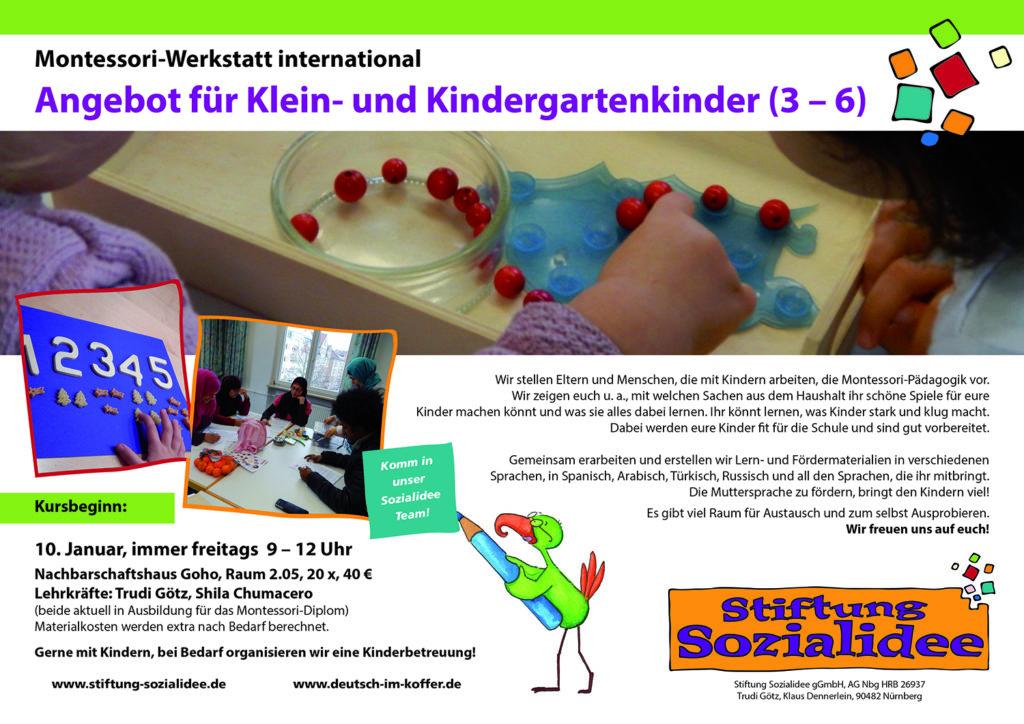 Plakat Montessori Werkstatt Stiftung Sozialidee