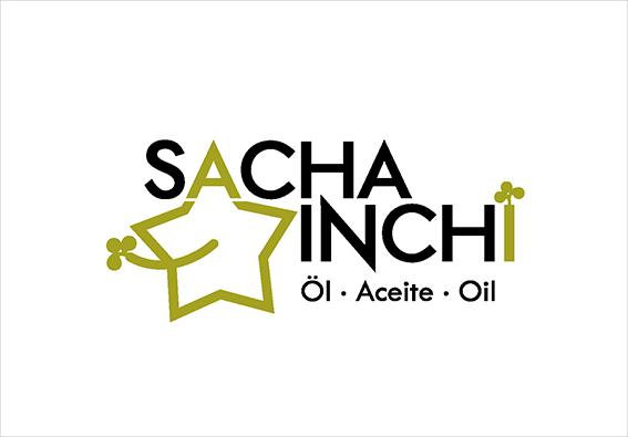 Logo Design Sacha Inchi. Pflanzliches Öl aus der Amazonasregion, Peru
