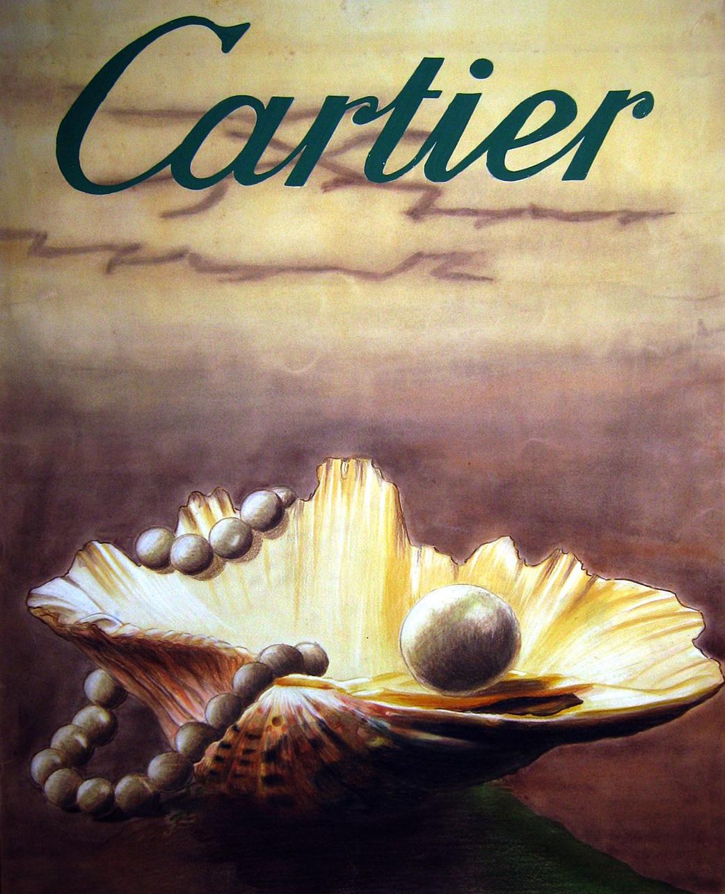 llustration Cartier Aquarell, Farbstifte und Pastel
