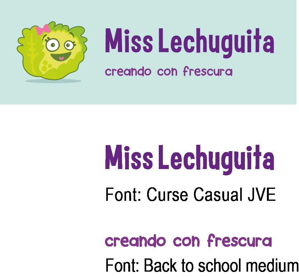 Ejemplo de fuentes en un logo